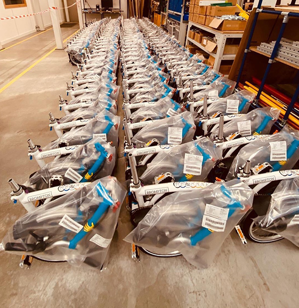 First round of Brompton folding bikes built to donate to the NHS